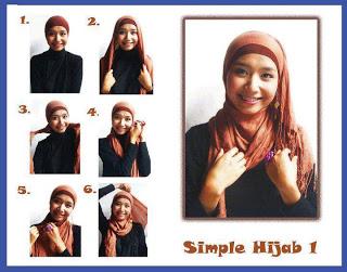 Cara memakai hijab kreasi moden